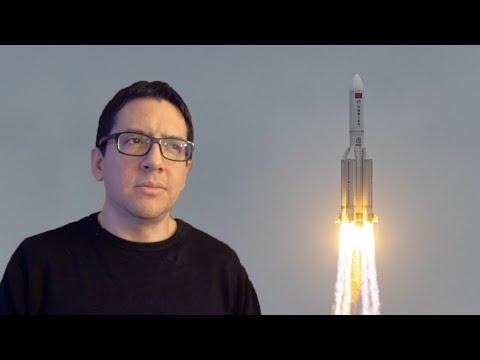 Gran Cohete Fuera de Control Rumbo a la Tierra