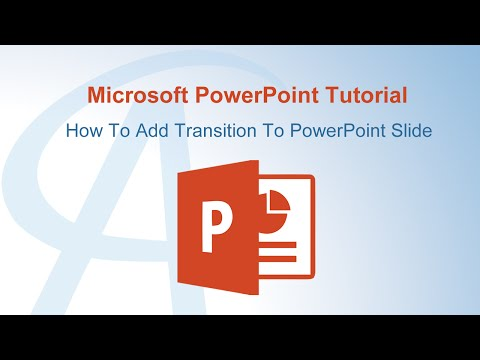 How To Add Transition To PowerPoint Slide