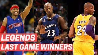 NBA Legends' LAST Career Game Winners!