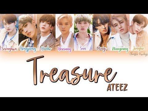 에이티즈 (ATEEZ) – Treasure (Color Coded Lyrics | han, rom, eng)