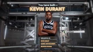 NBA2K20 KEVIN DURANT BUILD - DEMIGOD SCORING BUILD 2K20
