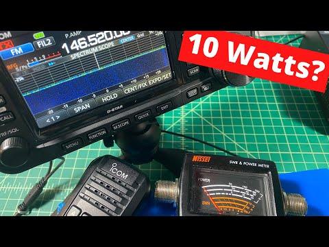ICOM IC-705 VHF/UHF Power Test - TheSmokinApe