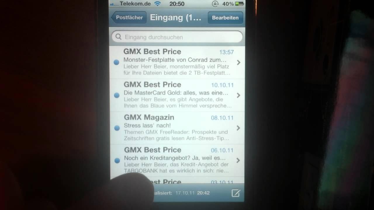 alle e mails beim iphone löschen