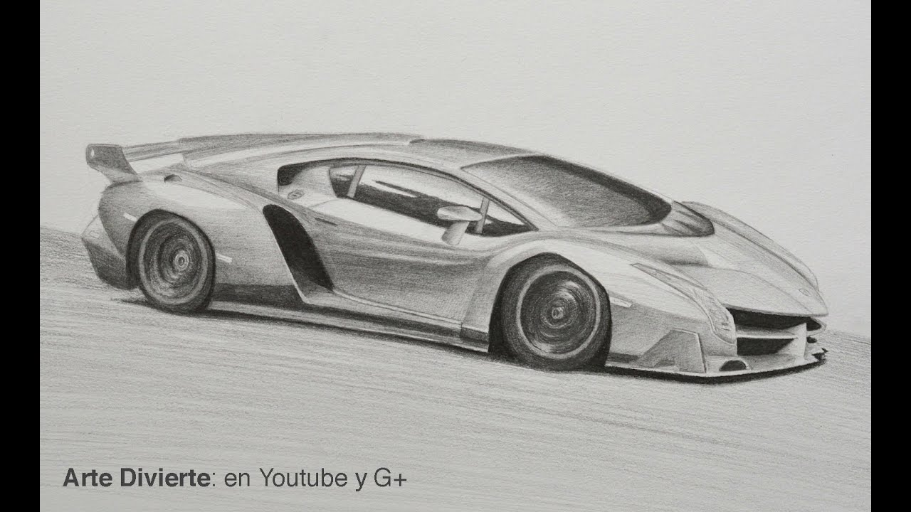 C 243 Mo Dibujar Un Lamborghini Veneno Arte Divierte Youtube