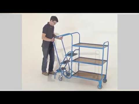 ORDER PICKING STEP TROLLEY