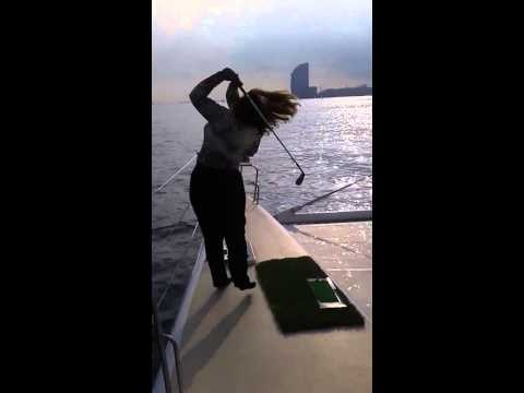 ALBUS GOLF (video 15) Playing golf on the sea with ECOBIOBALL in Barcelona area