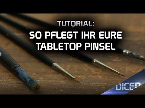 Tutorial: So pflegt Ihr Eure Tabletop Pinsel | DICED