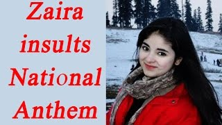 Zaira Wasim insults National Anthem, refuses to stand up..