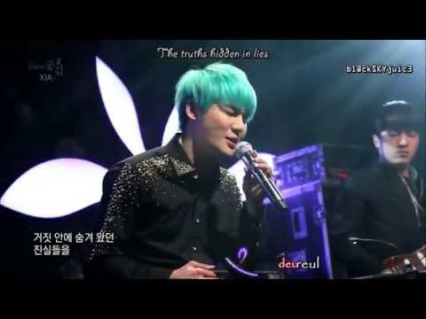 XIA Junsu - Flower (ballad version) LIVE @ EBS Space [han / rom / eng]