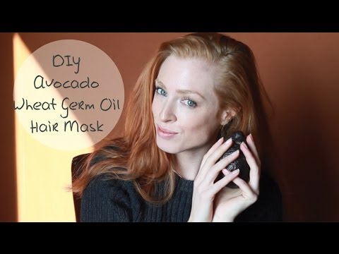 DIY Avocado Wheat Germ Oil Mask for Shiny Hair | A fashion model reveals her secrets ...