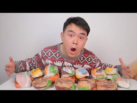 小伙没吃过汉堡王,结果一气之下买了所有汉堡,服务员都吓一跳