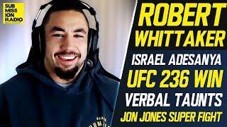 "Robert Whittaker Wants Jon Jones, Says Israel Adesanya Fight Will Be ""Short And Sweet"""