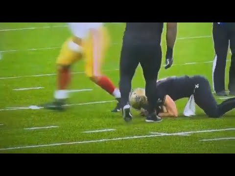 Drew Brees Full Injury Video | Saints vs 49ers