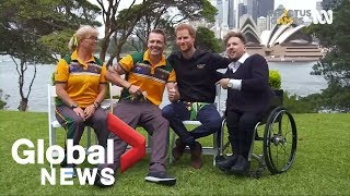 Prince Harry gets 'budgie smugglers' from Australian Invictus Games athletes