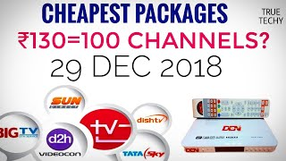 DTH/Cable TV New Rule By TRAI,Lowest Price Package 100 Channel In ₹130?Tariff Plans for D2H & Cable