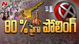 Voting in 400 polling booths continue till midnight in AP..