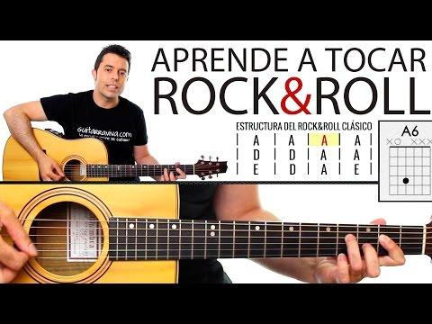 Aprende a tocar Rock & Roll en guitarra! paso a paso y muy fácil! tutorial