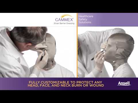 Ansell - GAMMEX Silver Barrier Dressing - Mask