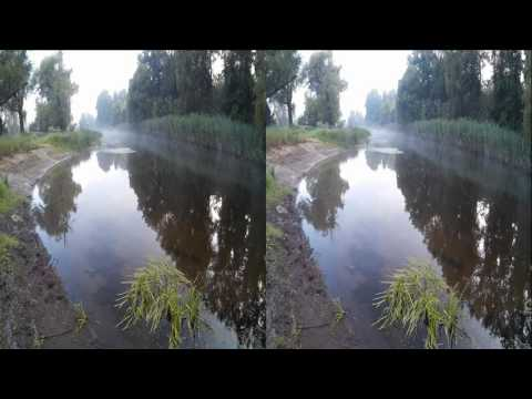 Morning Mist on the River! Natural sounds of Nature  ! 3D VIDEO