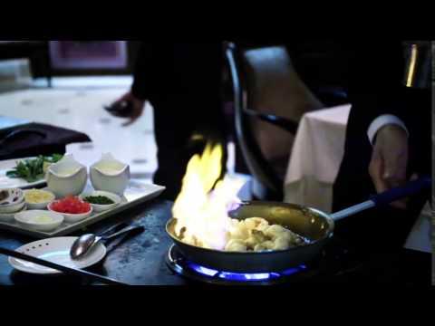Celebrity Solstice table-side flambéed lobster