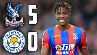 CRYSTAL PALACE - LEICESTER CITY 5-0 All Goals and Highlights HD ITA 28/04/2018
