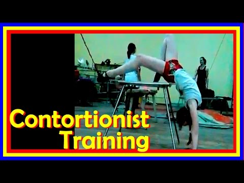 Contortion Act On Table Training Routine