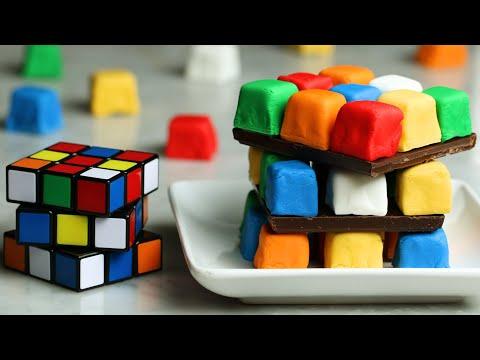 Rubik's Cube Cake ?Tasty