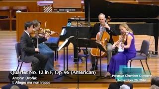 The New York Philharmonic String Quartet performs Dvořák's American Quartet