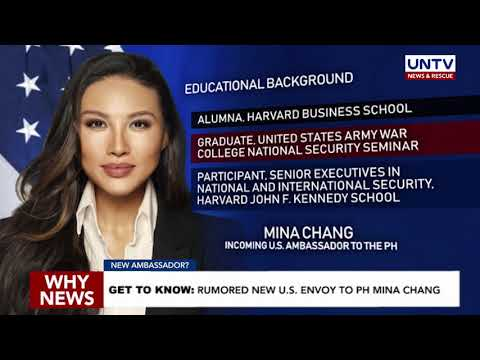 GET TO KNOW: rumored new U.S. envoy to PH Mina Chang