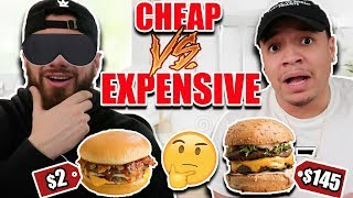 CHEAP VS EXPENSIVE FOOD!! (Can You Tell The Difference?)$2 BURGER VS $145 BURGER & More *TASTE TEST*