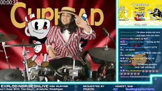 Full Cuphead OST Drum Cover Start to Finish No Breaks! | Streamed Live on Twitch