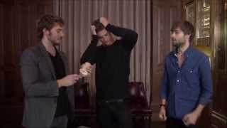 The Riot Club: Beer Pong with Sam Claflin, Max Irons, and Douglas Booth
