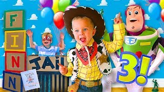 TOY STORY BIRTHDAY PARTY SURPRISE! 🚀 (Finn Turns 3 Birthday Special!)