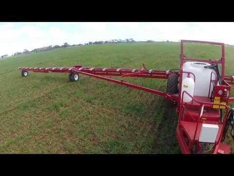Croplands | WEEDit selective sprayer | Boom Folding Demonstration