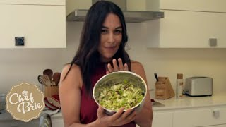 Chef Brie's Brussels Sprout Salad with VEGAN BACON!