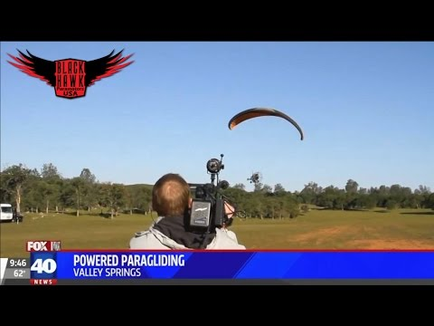 Sacramento Fox 40 News Reporters Had a Blast at The BlackHawk Paramotor Ranch Today!