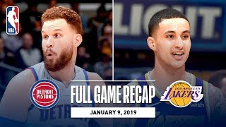 Full Game Recap: Pistons vs Lakers | Kyle Kuzma's Career Night