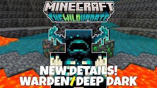 19+ New Details About The Warden & Deepdark! Minecraft 1.19 The Wild Update