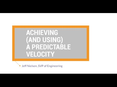 Agile Best Practices: Achieving and Using a Predictable Velocity