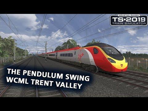 Train Simulator 2019: Class 390 'Pendolino' on WCML Trent Valley (High Speed)