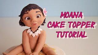 Disney's Moana cake topper fondant - oceania - vaiana in pasta di zucchero torta