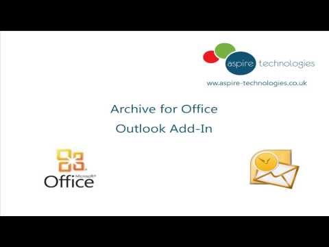 Archive for Office Outlook Add-In