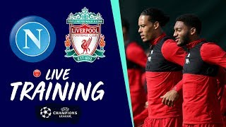 Reds train at Melwood ahead of Champions League opener at Napoli