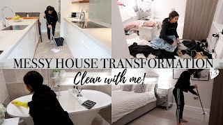 MESSY HOUSE TRANSFORMATION | EXTREME CLEAN WITH ME 2019 | ALL DAY CLEANING MOTIVATION!