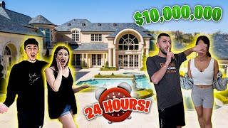 WE SPENT 24 HOURS IN A $10,000,000 HOME! *MOST EXPENSIVE HOUSE*