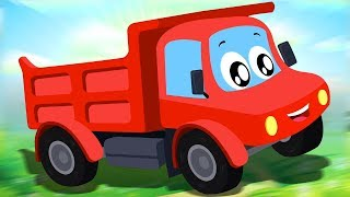 Dump Truck Is Working | Little Red Car | Car Cartoons For Kids