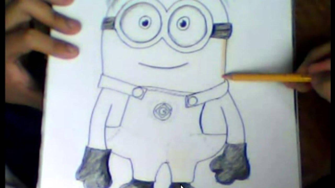 Madeheart Cuaderno De Dibujo Libreta Para Dibujar Hecho: Dibujando Un Minion
