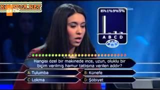 Kim Milyoner Olmak ister Elif Semerci 201. Bölüm 05.04.2013 yarışmacı küfür etti