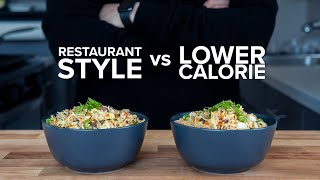 How to make Lower Calorie Fried Rice that still tastes good.