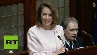 'We've learned so much at U2 concerts about Ireland,' Nancy Pelosi